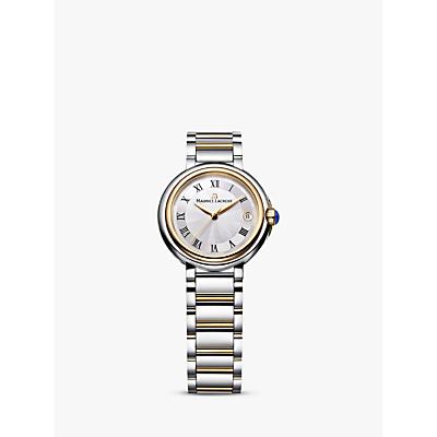 Maurice Lacroix FA1003-PVP13-110-1 Women's Fiaba Date Two Tone Bracelet Strap Watch, Silver/Gold