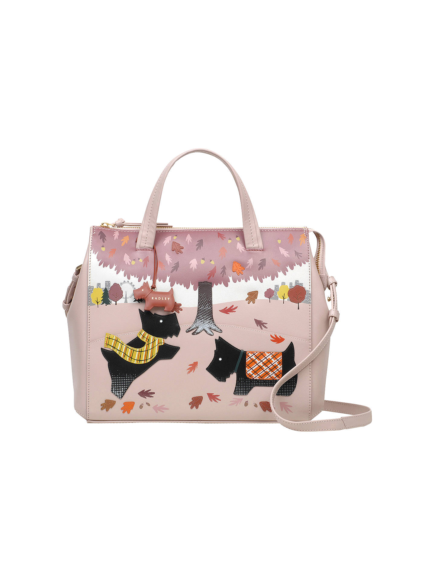 Radley Autumn Days Leather Limited Edition Picture Bag Pale Pink Online At Johnlewis