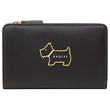 Buy Radley Heritage Dog Outlined Medium Leather Zip Purse, Chocolate Online at johnlewis.com