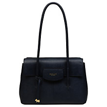 Buy Radley Burnham Beaches Leather Medium Tote Bag, Navy Online at johnlewis.com