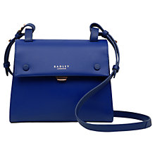 Buy Radley Lavender Gardens Leather Small Across Body Bag, Royal Blue Online at johnlewis.com