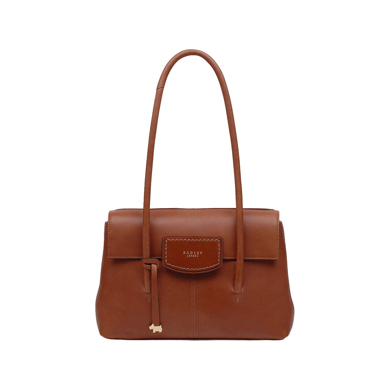BuyRadley Burnham Beeches Leather Medium Flapover Tote Bag, Tan Online at  johnlewis.com ...