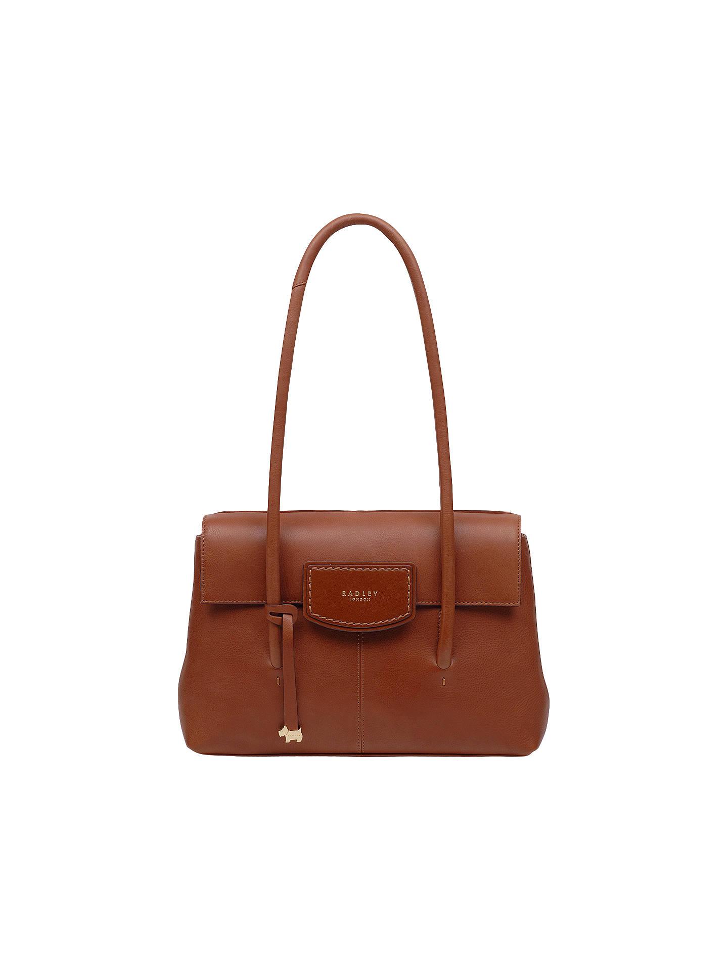 4d20c743127a Buy Radley Burnham Beeches Leather Medium Flapover Tote Bag, Tan Online at  johnlewis.com ...