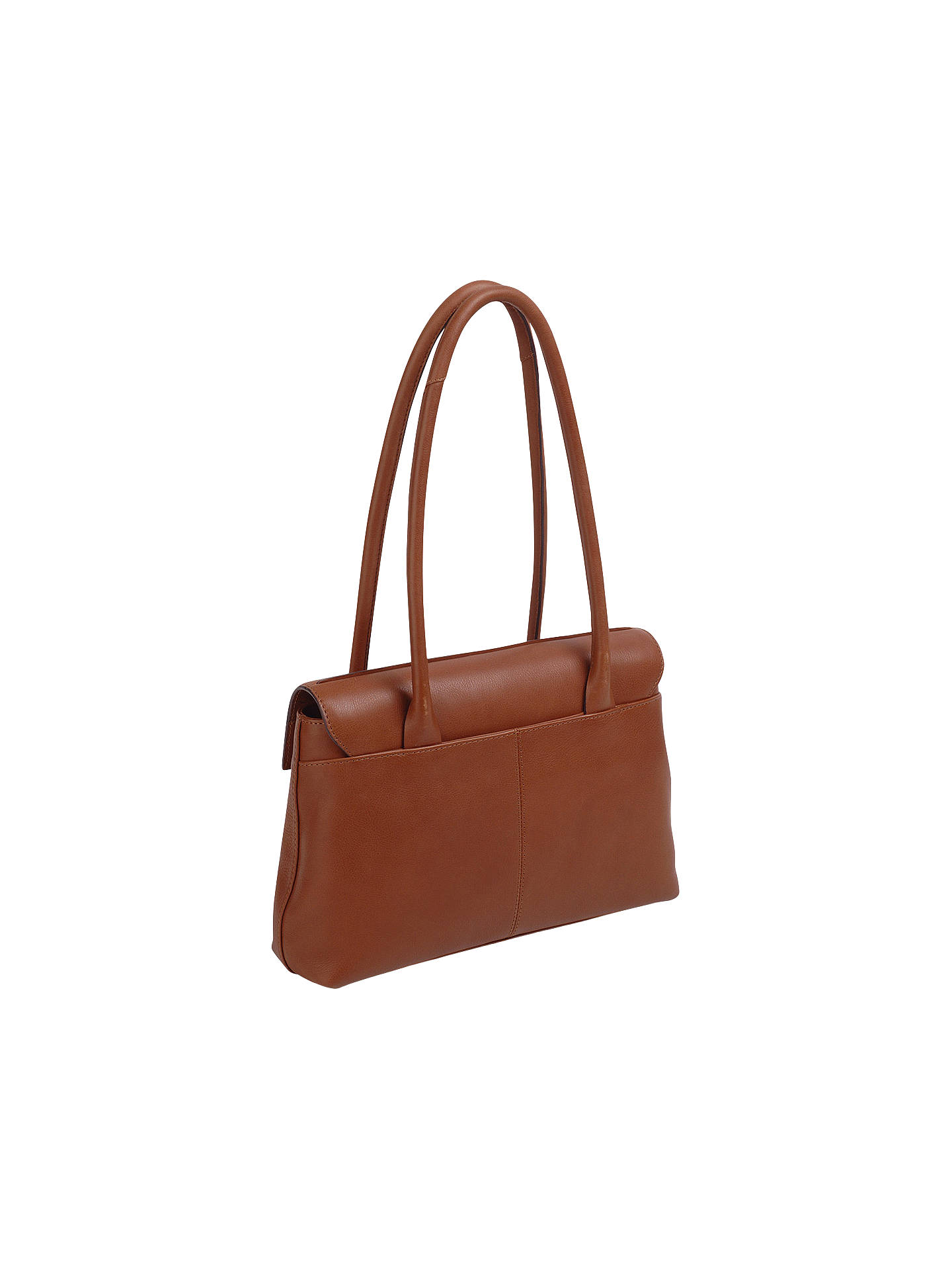 1aa7f1179cbb ... Buy Radley Burnham Beeches Leather Medium Flapover Tote Bag, Tan Online  at johnlewis.com