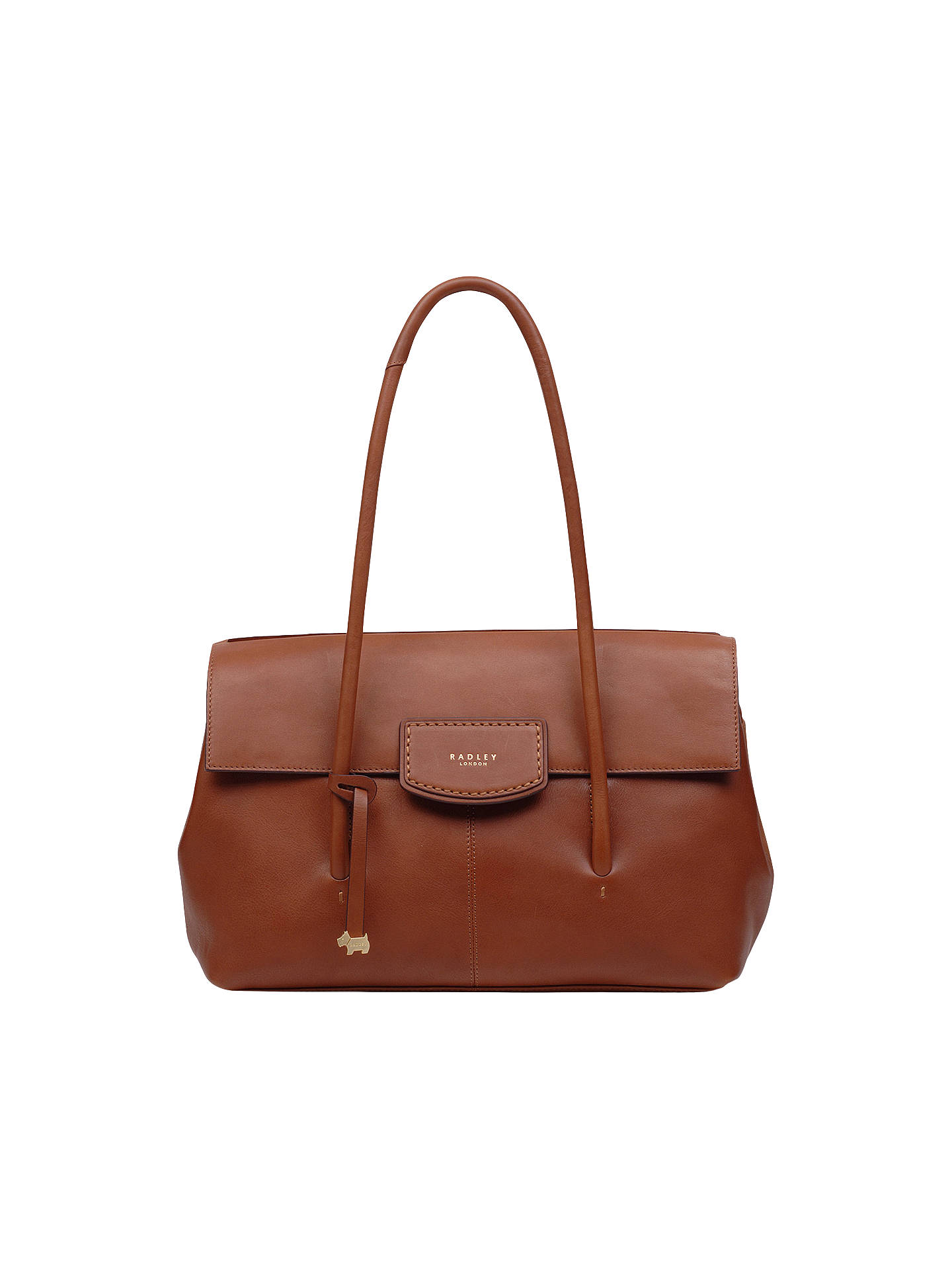 d841f8e991ee Radley Burnham Beeches Leather Large Flapover Shoulder Bag, Tan