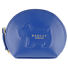 Buy Radley Shadow Leather Small Coin Purse, Cobalt Blue Online at johnlewis.com