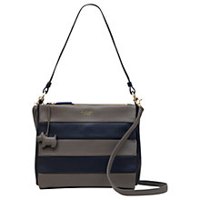 Buy Radley Syon Park Medium Leather Shoulder Bag, Navy/Grey Online at johnlewis.com