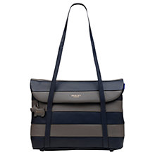 Buy Radley Syon Park Medium Leather Tote Bag, Grey/Navy Online at johnlewis.com