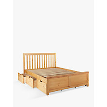 Buy John Lewis Natural Storage Bed, Double Online at johnlewis.com