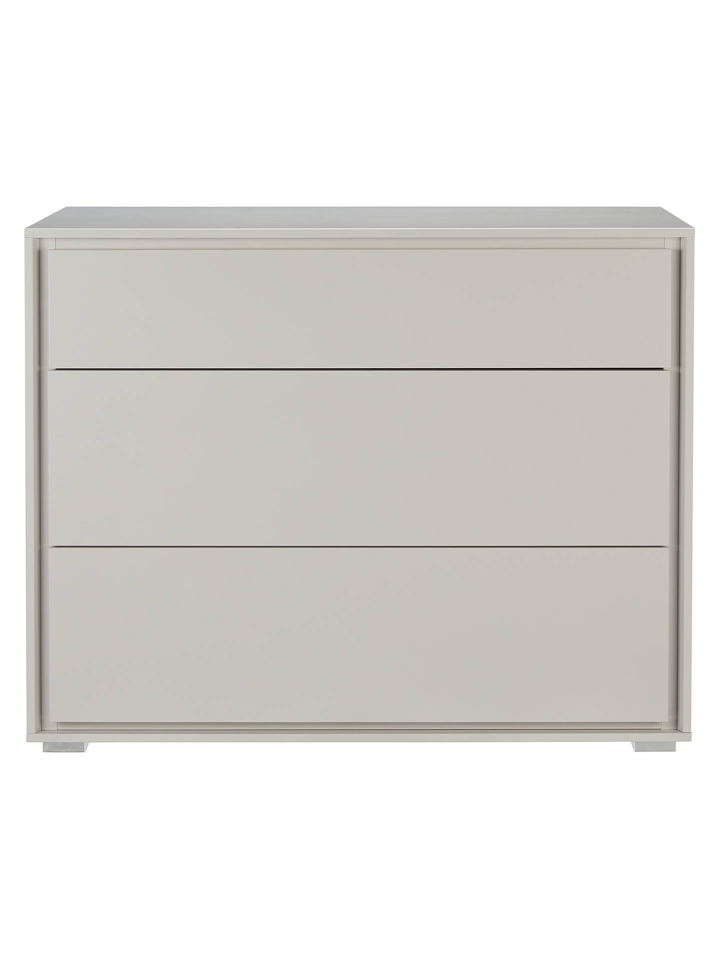 Buy John Lewis & Partners Napoli 3 Drawer Chest, Matt Grey Online at johnlewis.com