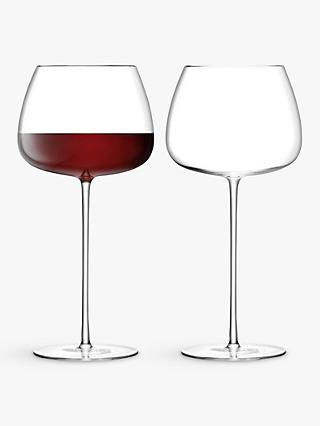 LSA International Wine Culture Red Wine Balloon Glasses, 590ml, Set of 2