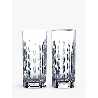 Royal Doulton R&D Collection Neptune Crystal Cut Glass Highballs, 320ml, Set of 2