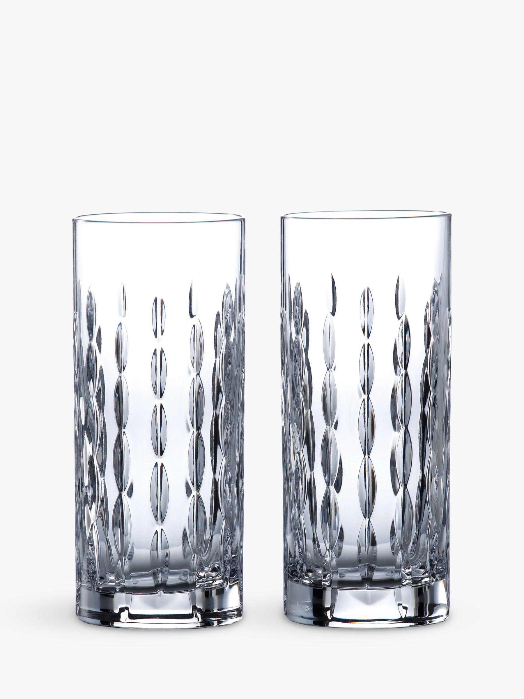 Royal Doulton Royal Doulton R&D Collection Neptune Crystal Cut Glass Highballs, 320ml, Set of 2