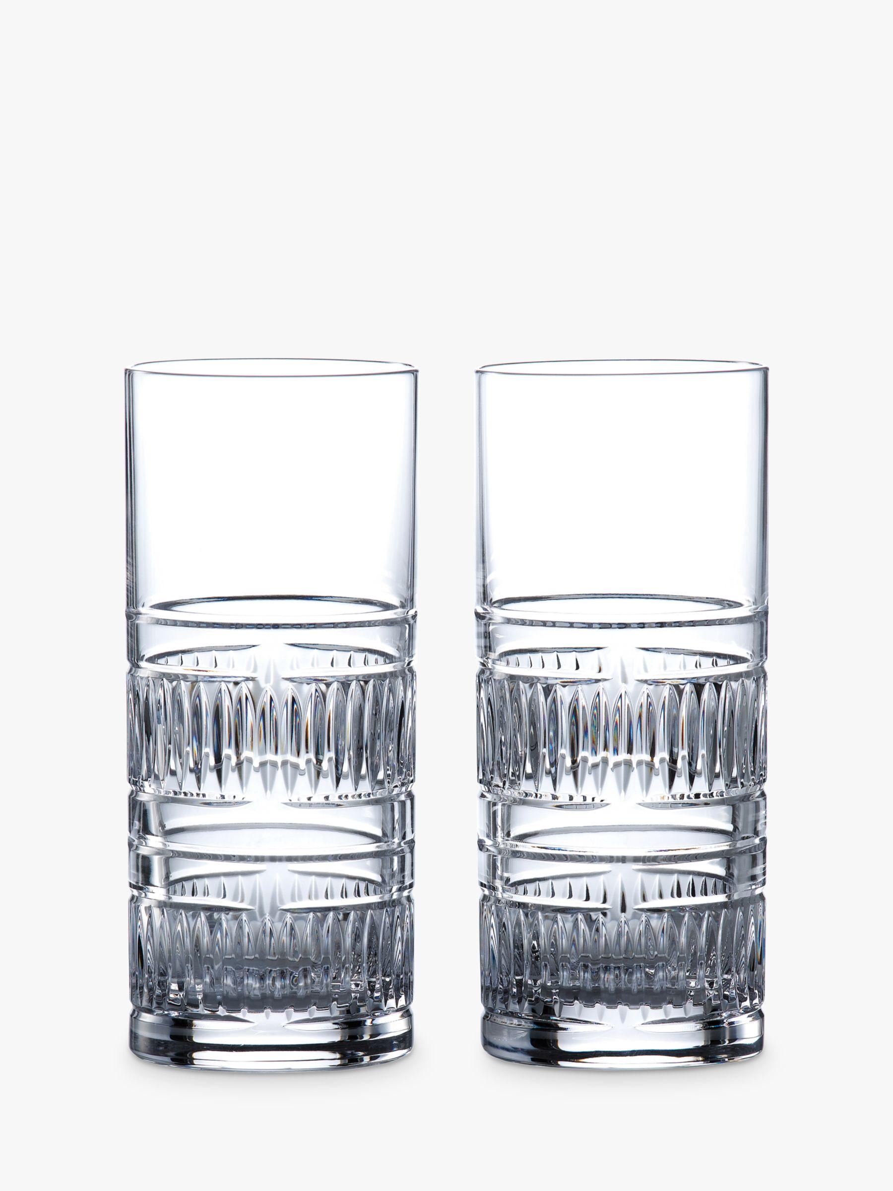 Royal Doulton Royal Doulton R&D Collection Radial Crystal Cut Glass Highballs, 320ml, Set of 2