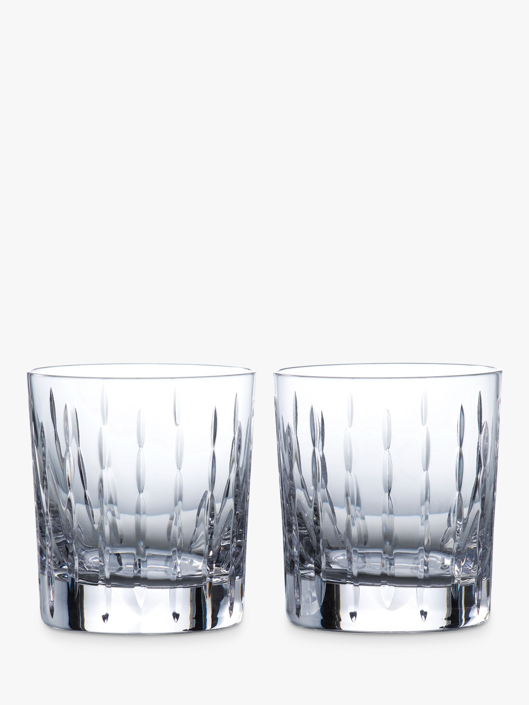 bc0bb9e4889f Royal Doulton R&D Collection Neptune Crystal Cut Glass Tumblers, 290ml, Set  of 2 at John Lewis & Partners