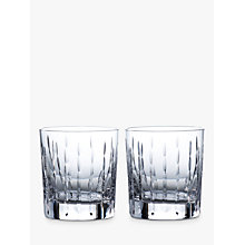 Buy Royal Doulton R&D Collection Neptune Crystal Cut Glass Tumblers, 290ml, Set of 2 Online at johnlewis.com