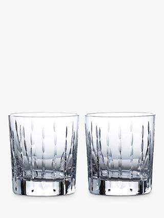 Royal Doulton R&D Collection Neptune Crystal Cut Glass Tumblers, 290ml, Set of 2