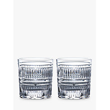 Buy Royal Doulton R&D Collection Radial Crystal Cut Glass Tumblers, 290ml, Set of 2 Online at johnlewis.com