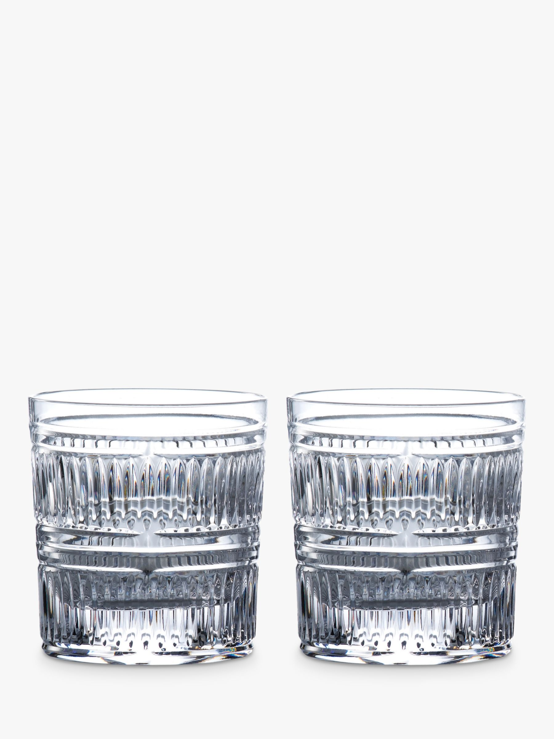 Royal Doulton Royal Doulton R&D Collection Radial Crystal Cut Glass Tumblers, 290ml, Set of 2