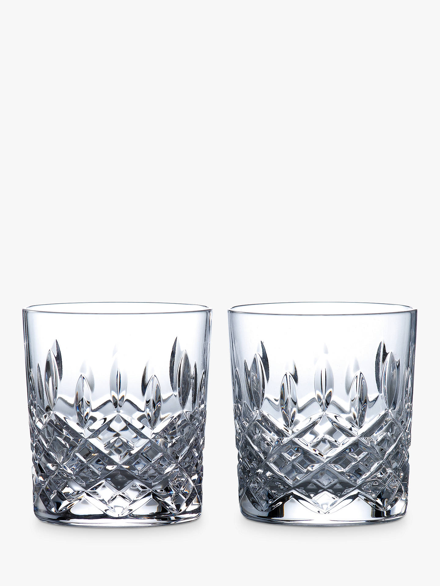 BuyRoyal Doulton R&D Collection Highclere Crystal Cut Tumblers, 290ml, Set of 2 Online at johnlewis.com