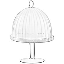 Buy LSA International Aurelia Glass Dome and Cake Stand, Dia.25cm Online at johnlewis.com