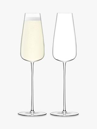 LSA International Wine Culture Champagne Flutes, 330ml, Set of 2