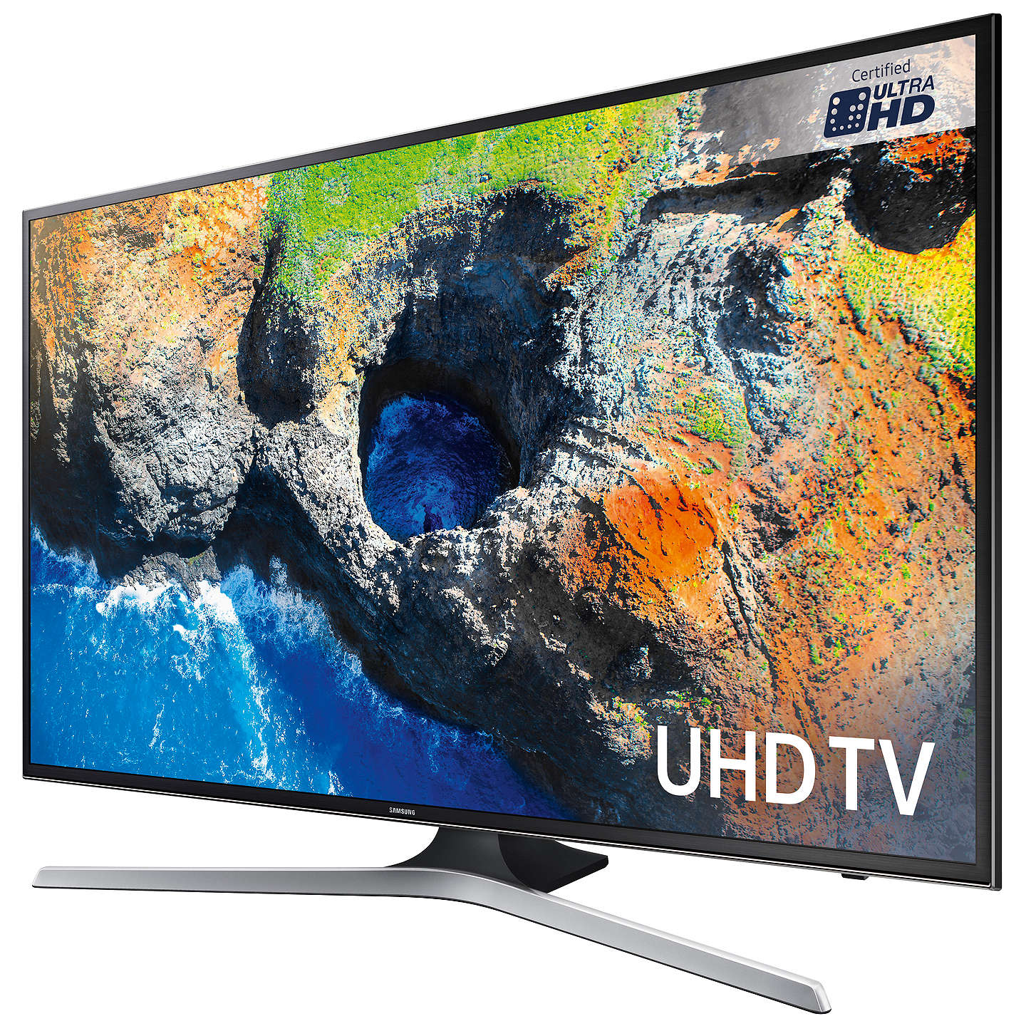 "BuySamsung UE40MU6120 HDR 4K Ultra HD Smart TV, 40"" with TVPlus, Black Online at johnlewis.com"