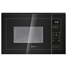 Buy Neff H12WE60S0G Built-In Microwave Oven, Black Online at johnlewis.com