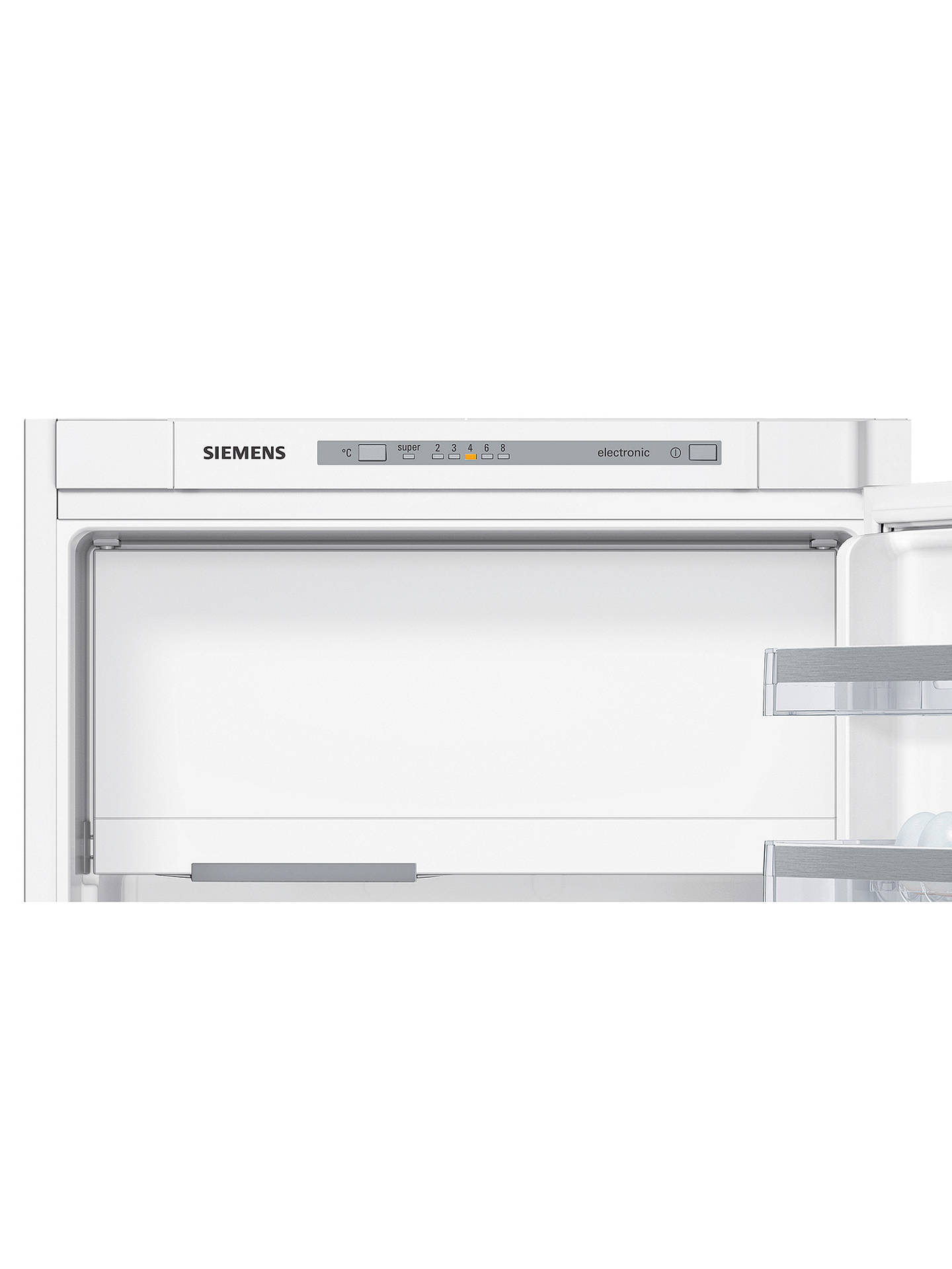 BuySiemens iQ300 KI22LVS30G Built-In Fridge with Freezer Compartment, A++ Energy Rating, 54cm Wide, White Online at johnlewis.com