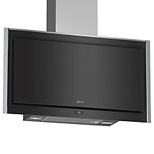 Buy Neff D95FMS1N0B Chimney Hood, Black Gloss Online at johnlewis.com