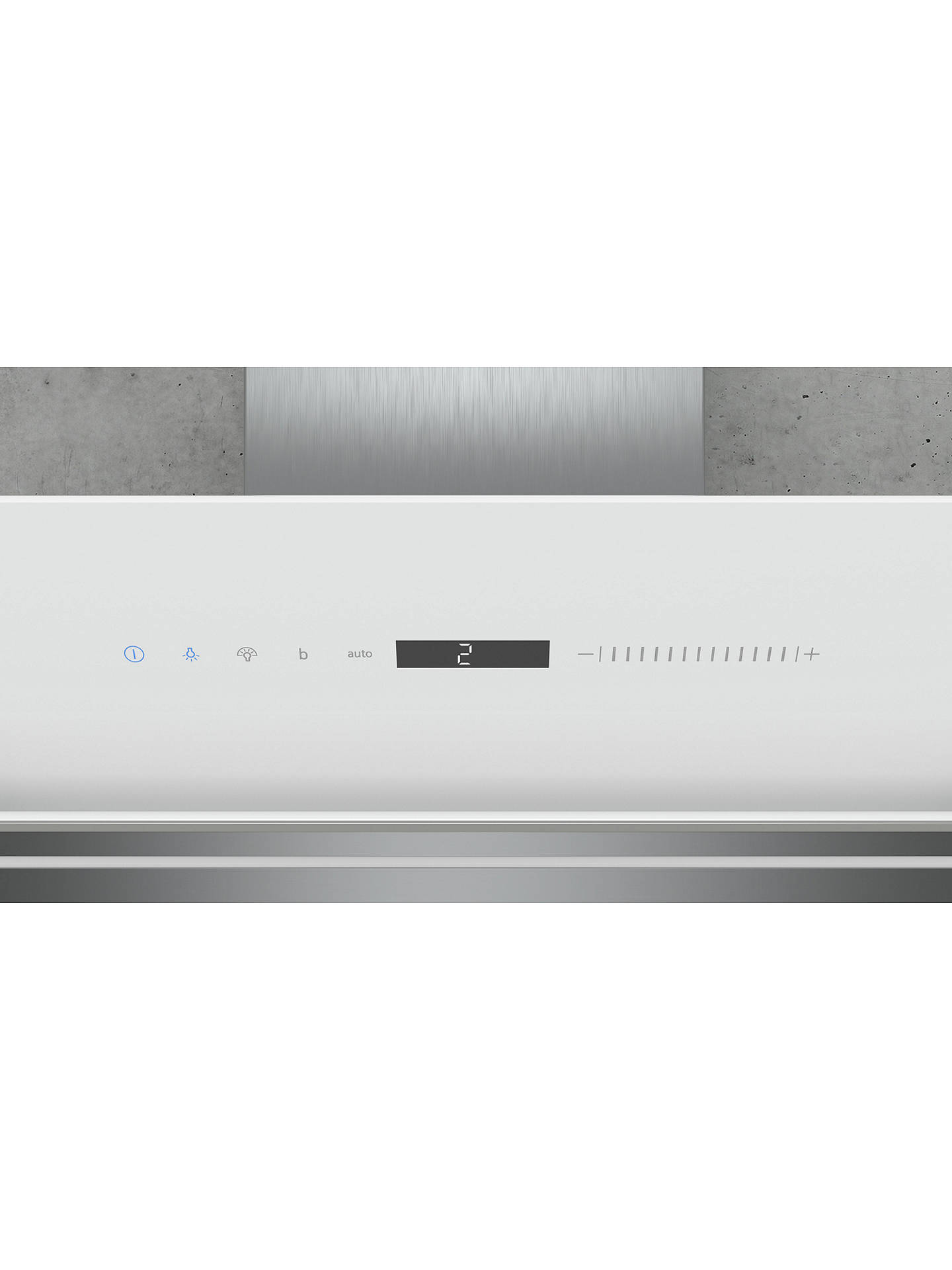 BuySiemens iQ700 LC91KWW20B Wall Mounted Chimney Cooker Hood, White Online at johnlewis.com