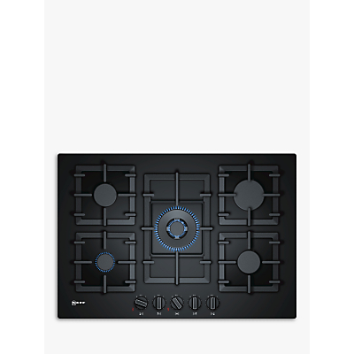 Image of Neff T27CA59S0 5 burner Black Gas on glass Hob