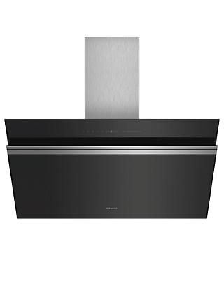 Siemens iQ700 LC91KWW60B 90cm Wall Mounted Chimney Cooker Hood, A+ Energy Rating, Black
