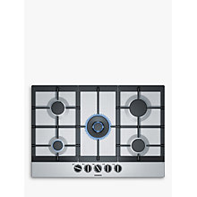 Buy Siemens EC7A5RB90 Gas Hob, Stainless Steel Online at johnlewis.com