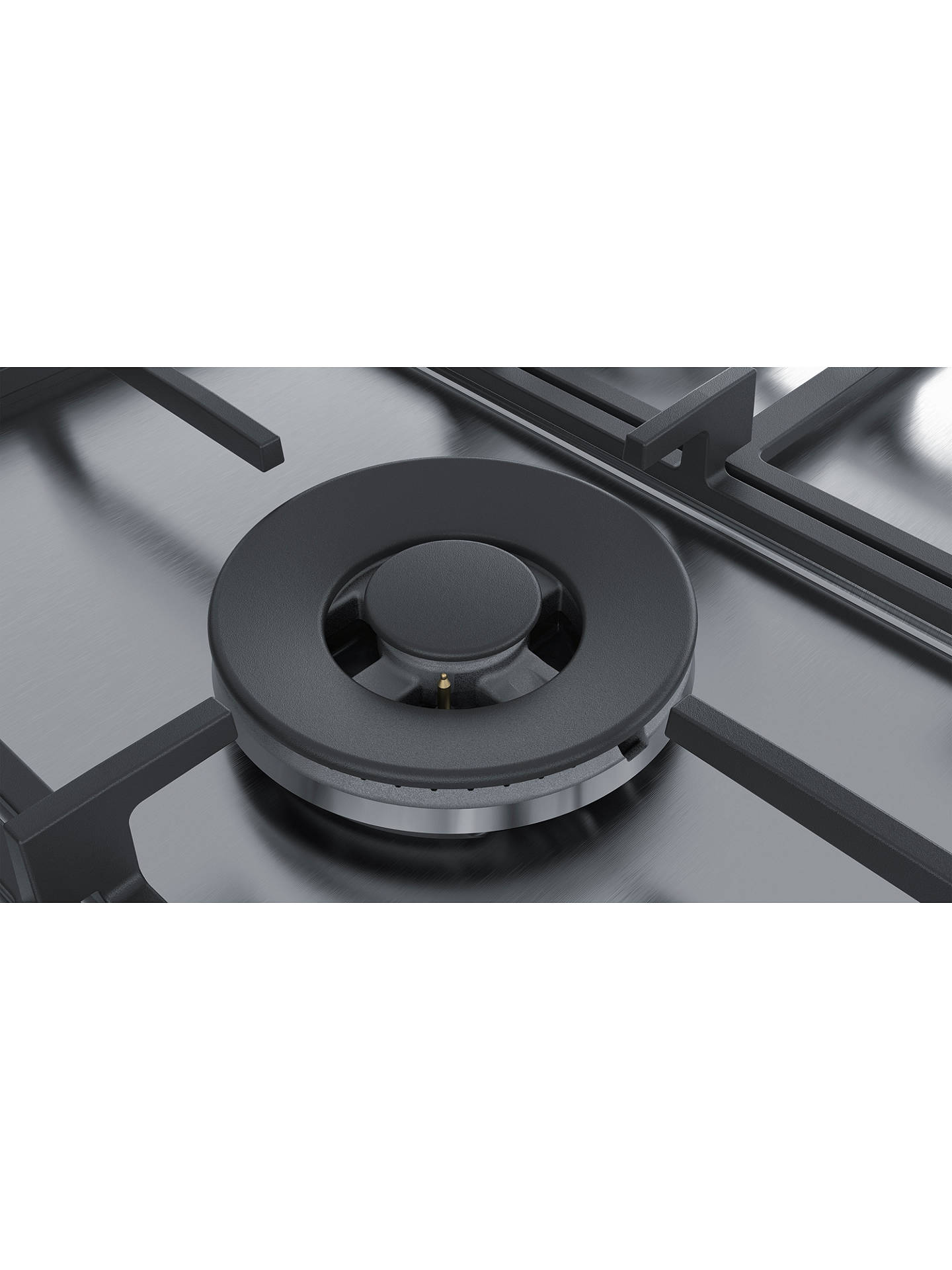 BuySiemens EC7A5RB90 Gas Hob, Stainless Steel Online at johnlewis.com