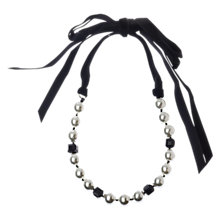 Buy Adele Marie Faux Pearl Velvet Ribbon Tie Necklace Online at johnlewis.com