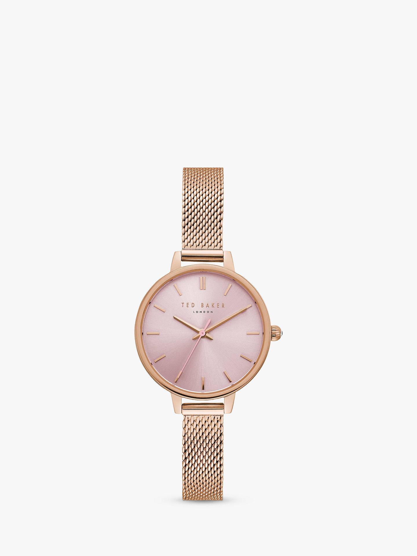 Ted Baker Women s Kate Mesh Bracelet Strap Watch at John Lewis ... 379ae7f5b
