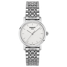 Buy Tissot T1092101103100 Women's Everytime Bracelet Strap Watch, Silver/White Online at johnlewis.com