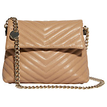 Buy Karen Millen Regent Leather Quilted Shoulder Bag, Nude Online at johnlewis.com