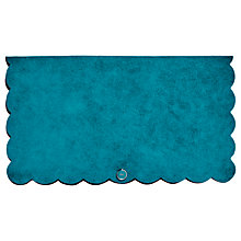 Buy Karen Millen Suede Scalloped Clutch Bag, Teal Online at johnlewis.com