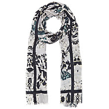 Buy Reiss Miller Fluid Wing Pattern Scarf, Cream/Multi Online at johnlewis.com
