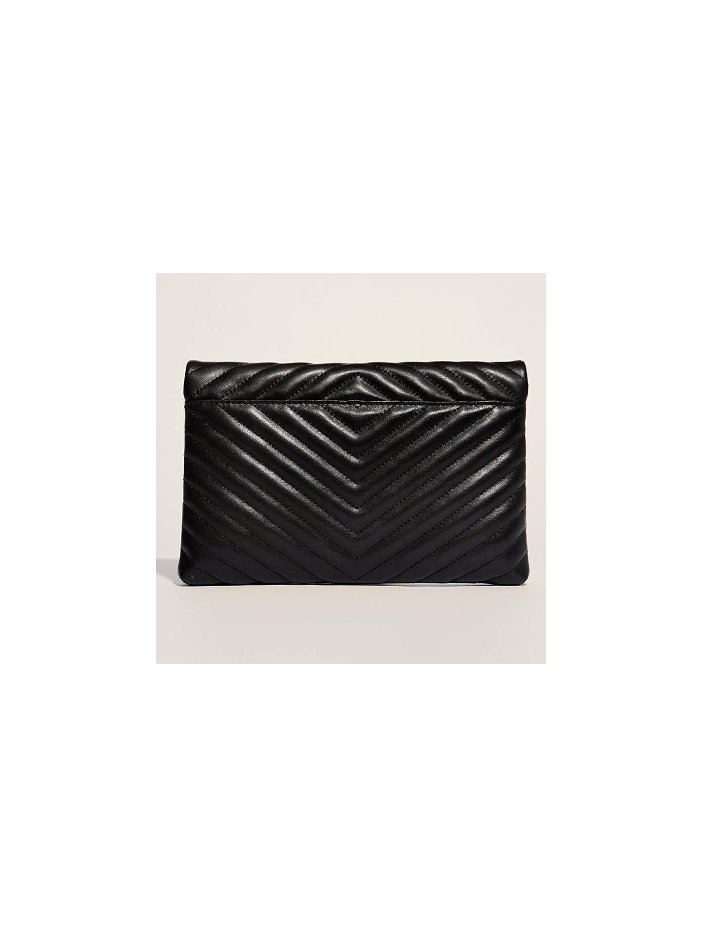 b07dc974df8 ... Buy Karen Millen Leather Quilted Brompton Bag, Black Online at  johnlewis.com ...