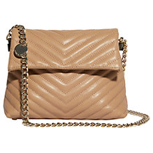 Buy Karen Millen Mini Regent Leather Quilted Shoulder Bag, Nude Online at johnlewis.com