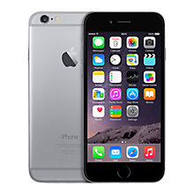 "Buy Apple iPhone 6, iOS, 4.7"", 4G LTE, SIM Free, 32GB, Space Grey Online at johnlewis.com"