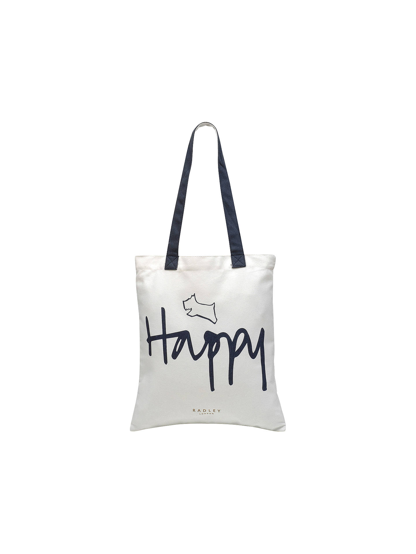 cf5d55803f6b Radley Slogans Cotton Tote Bag at John Lewis   Partners
