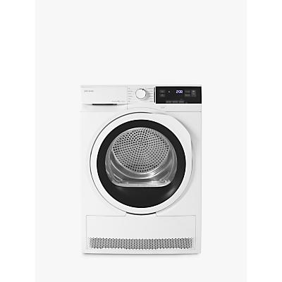 John Lewis JLTDH23 Heat Pump Tumble Dryer, 8kg Load, A++ Energy Rating, White