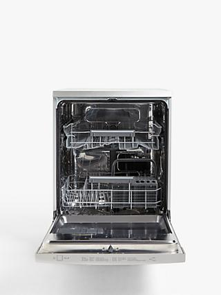 John Lewis & Partners JLDWS1328 Freestanding Dishwasher, Stainless Steel