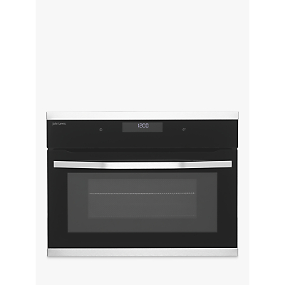 John Lewis & Partners JLBIMW433 Built-In Microwave with Grill, Black/Stainless Steel