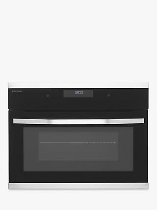 John Lewis & Partners JLBIMW433 Built-In Microwave, Black/Stainless Steel