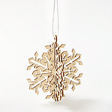 Buy Craft Buddy Blank Wooden Snowflake Decoration Online at johnlewis.com